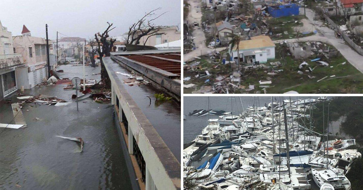 Killer Hurricane Irma wreaks havoc across Caribbean as whole islands are destroyed