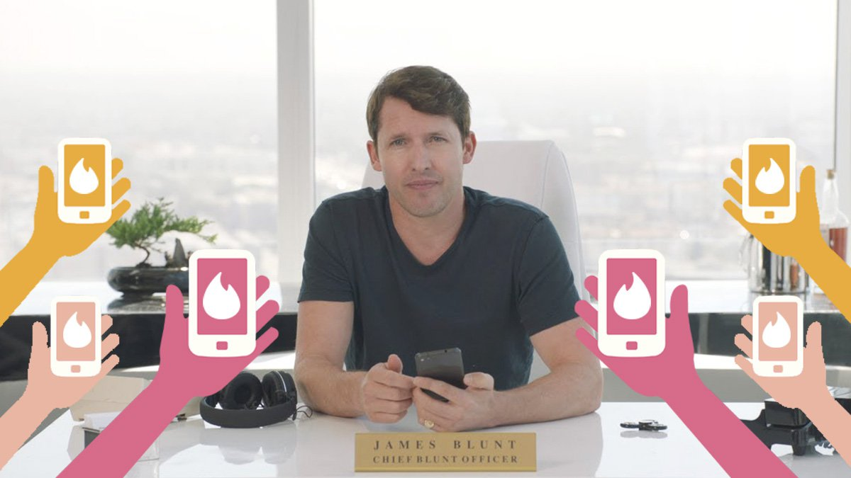 James Blunt becomes Chief Blunt Officer at Tinder in jokey dating app advert