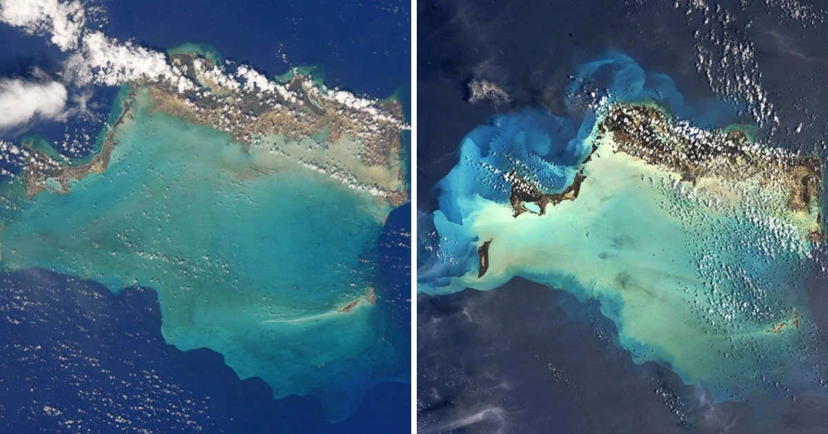 Pictures from space show before and after effects of Hurricane Irma