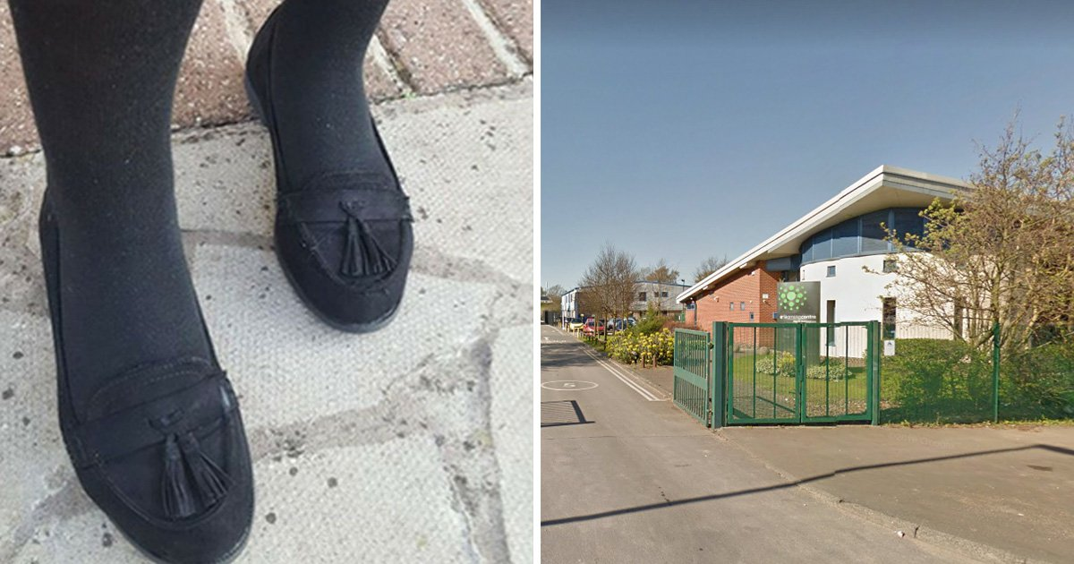 Girl, 12, kicked out of class for wearing new suede shoes