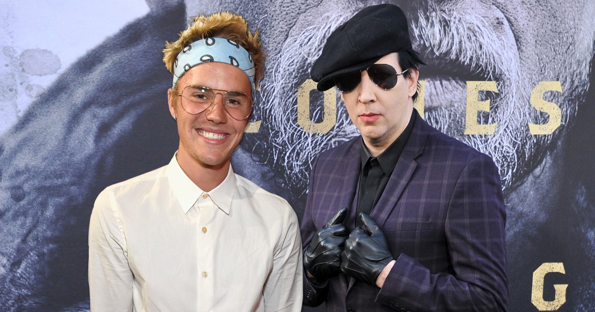 Marilyn Manson claims 'touchy-feely' Justin Bieber made a 'big mistake' claiming he made rock star 'relevant' again