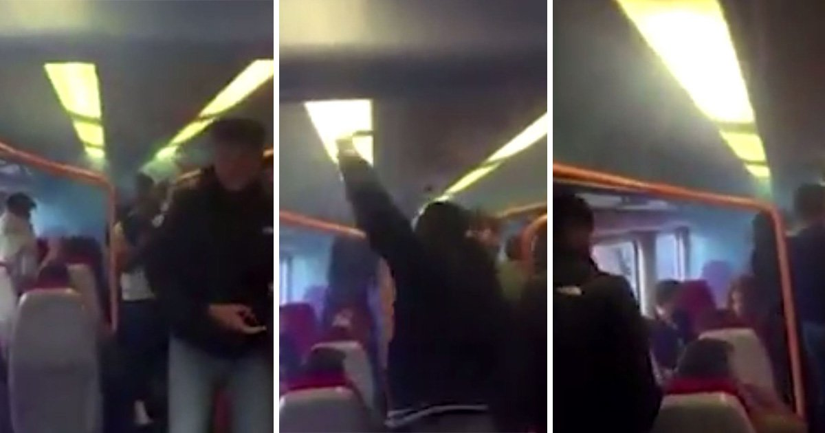 Football fans let off smoke bomb on packed train 24 hours after Parson's Green attack