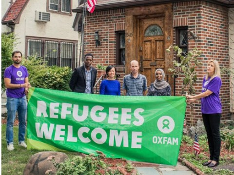 Refugees have moved into Donald Trump's three-storey childhood home
