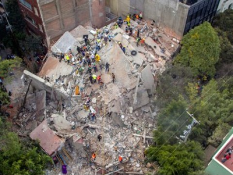 At least 20 children dead after school collapses in Mexico City earthquake