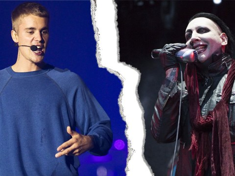 Marilyn Manson reveals Justin Bieber's apologetic texts as the pair settle their bizarre feud
