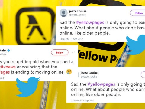 The Yellow Pages will no longer be printed and people can't handle it