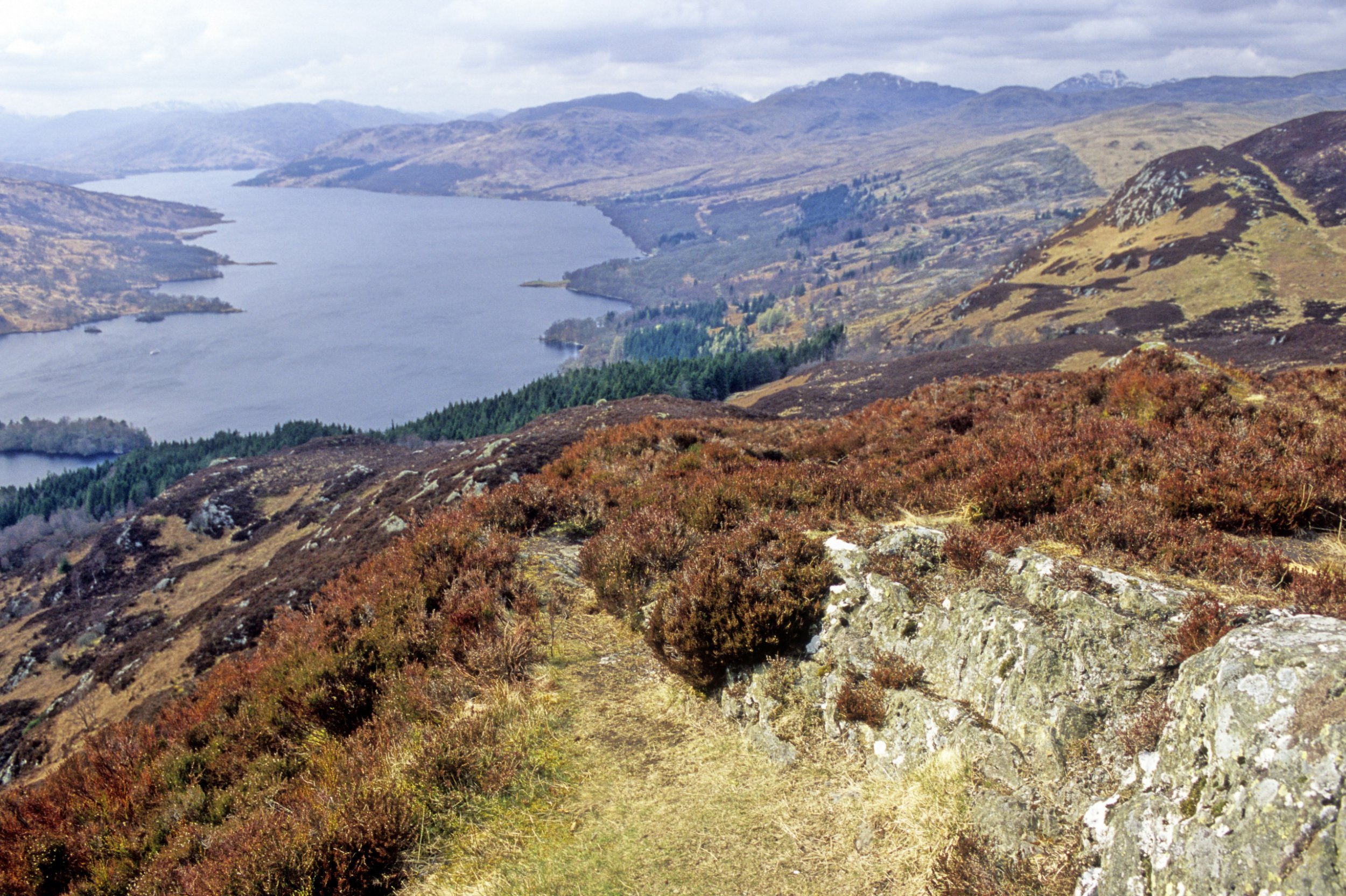 A gorgeous view of Loch Lomond in the Scottish Highlands