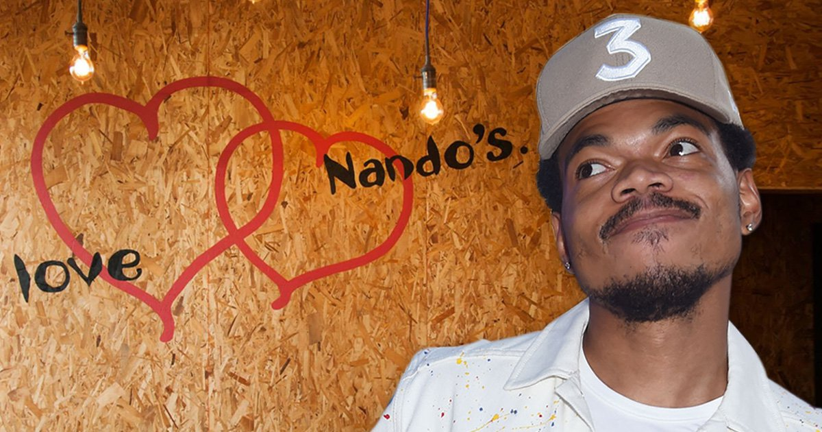 Chance the Rapper is grilling chicken at Nando's to raise money for charity