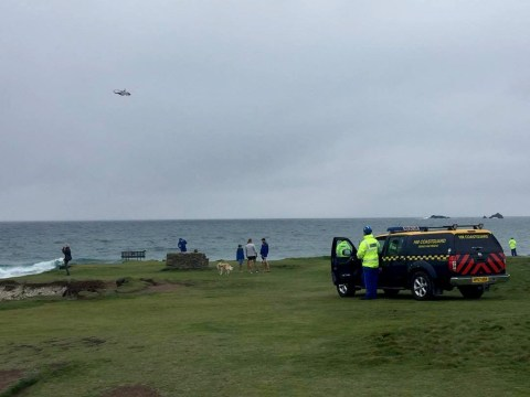 Major search operation after men swept off rocks while fishing in Cornwall