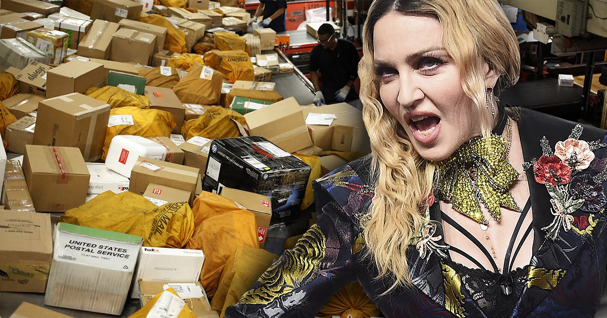 Madonna is battling FedEx to deliver her parcel because they don't think she's actually Madonna
