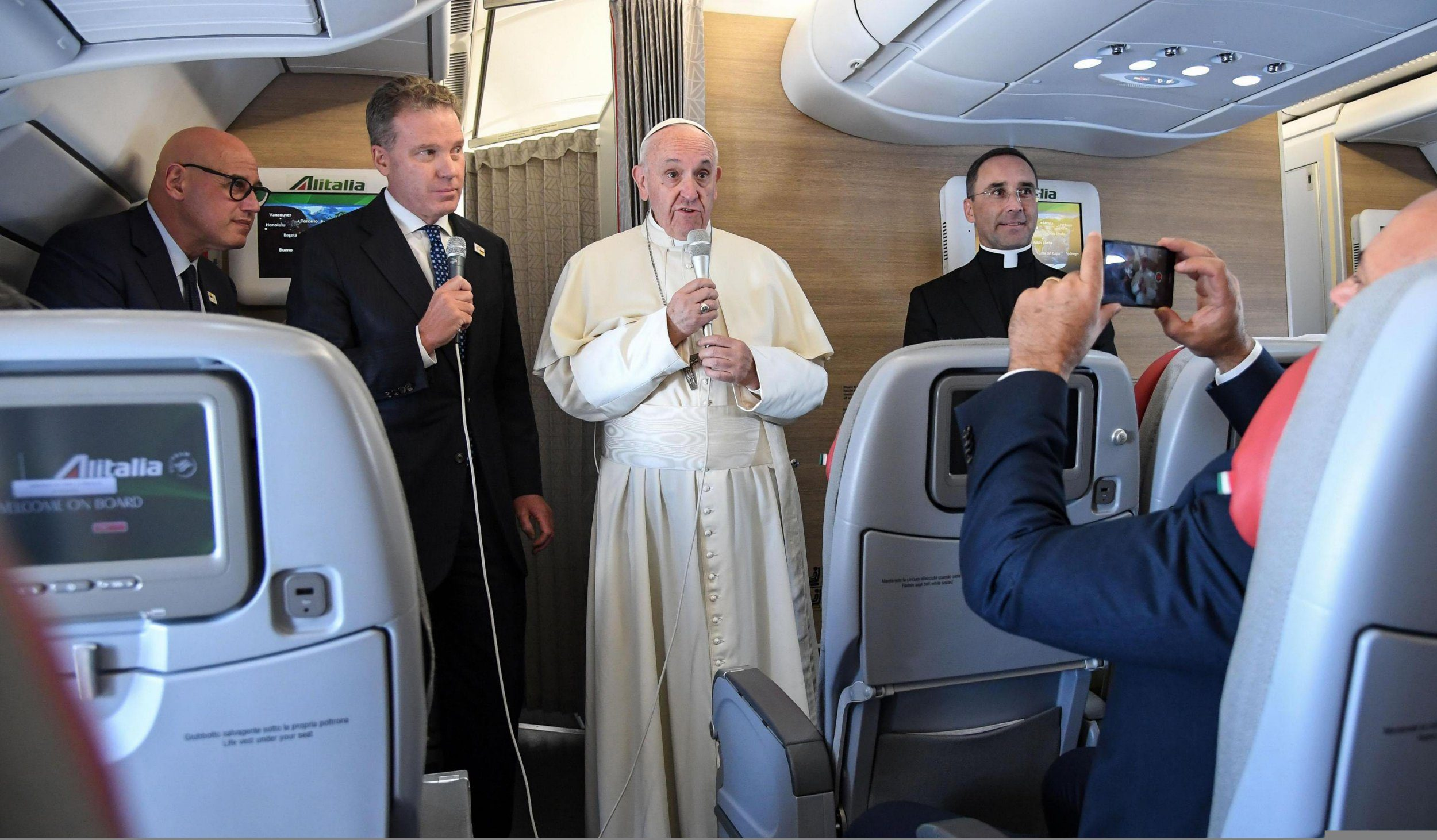Pope forced to change flight path to avoid Hurricane Irma