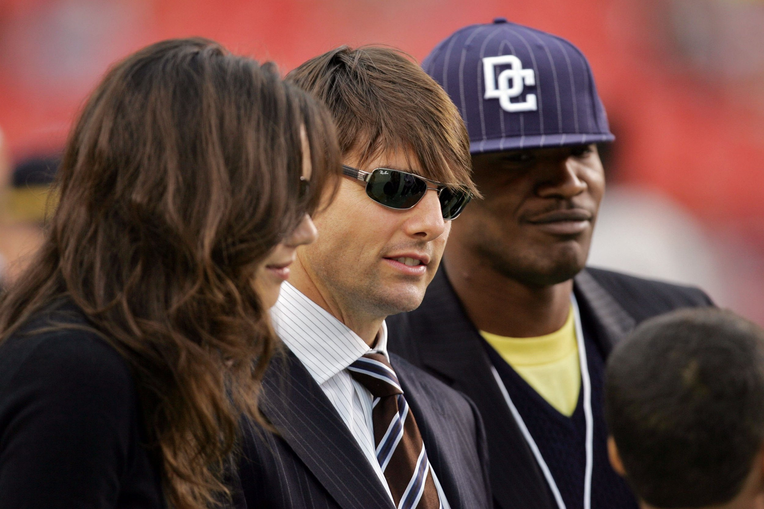 Katie Holmes and Jamie Foxx's first picture together also included Tom Cruise