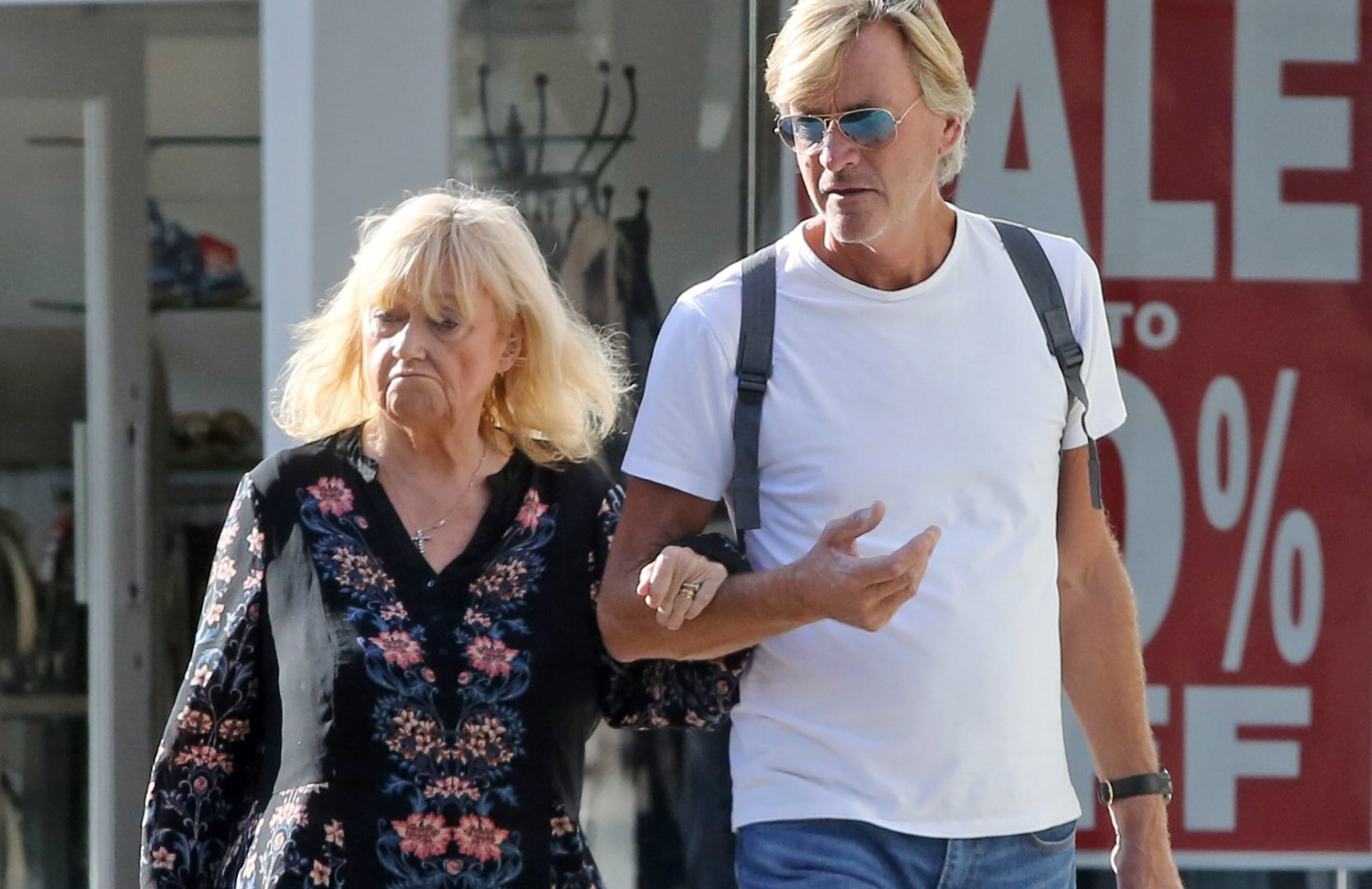 Judy Finnigan unveils healthy weight loss as she debuts fitter figure during stroll with Richard Madeley