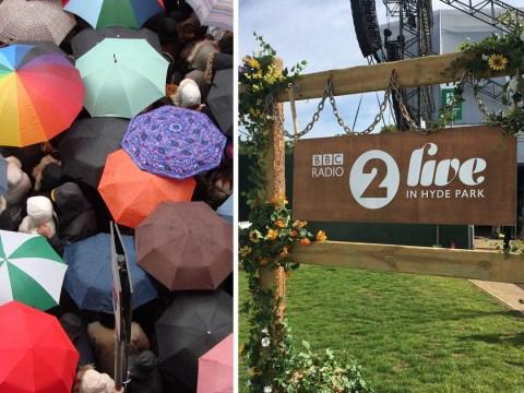 Festival fans' fury as BBC confiscates their umbrellas – then throw them away