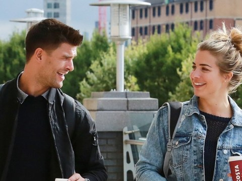 Strictly's Gemma Atkinson and Aljaz Skorjanec look ready to win as they head off to dance rehearsals