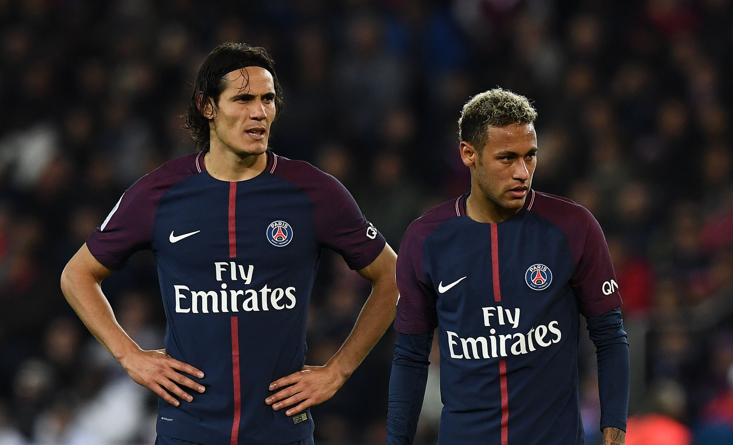 Neymar and Edinson Cavani had to be separated by Thiago Silva as row continued in changing room