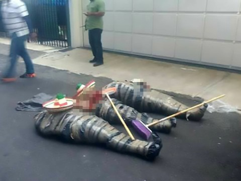 'Drug gang' victims have sombreros put on their decapitated heads