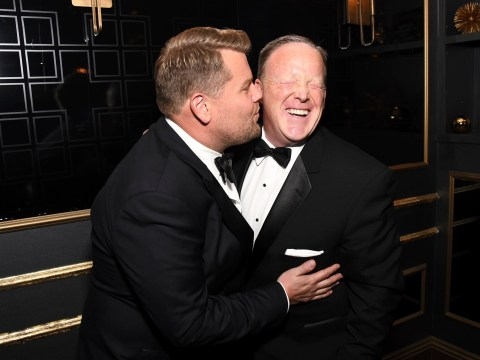 James Corden admits he's 'disappointed' in himself as he apologises for kissing Sean Spicer