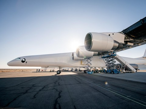Giant aircraft reaches milestone in bid to carry rockets towards space