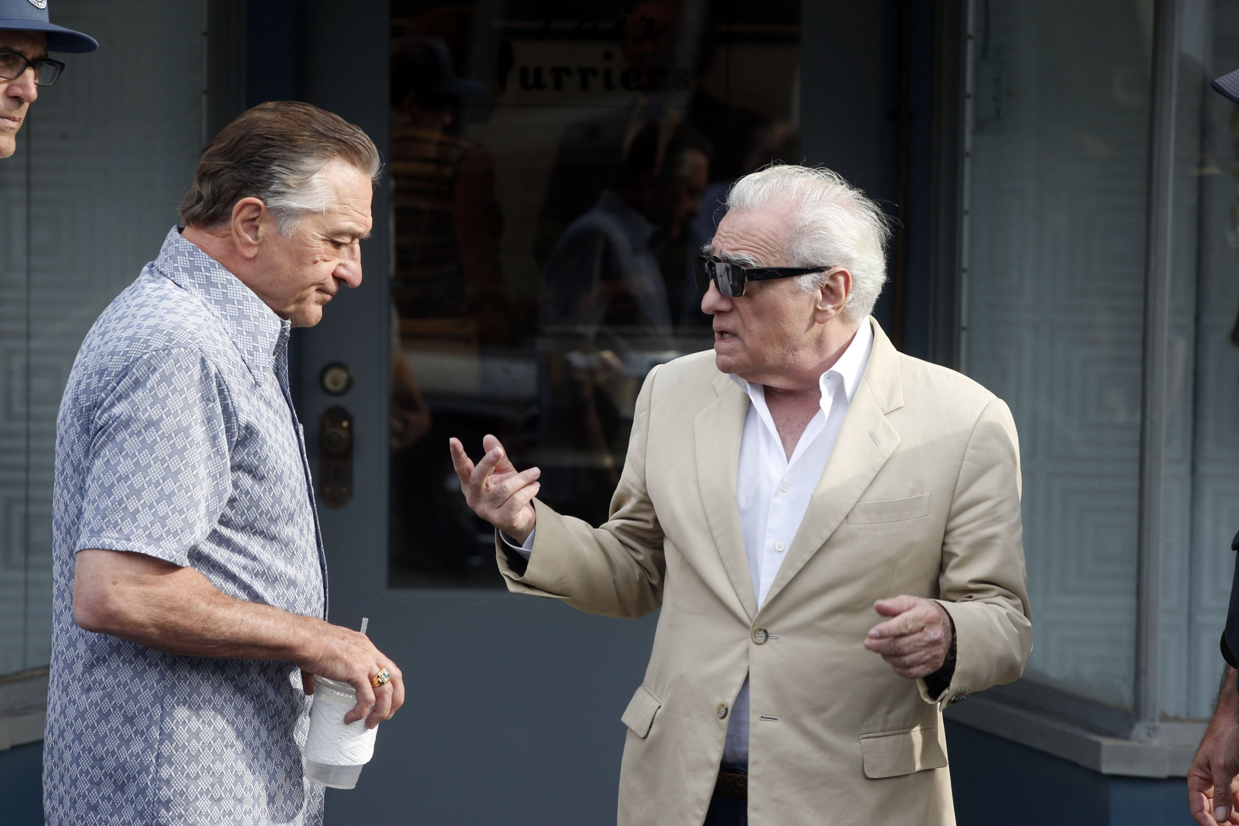 Robert De Niro, Joe Pesci and Martin Scorsese have Goodfellas reunion as they film The Irishman in New York