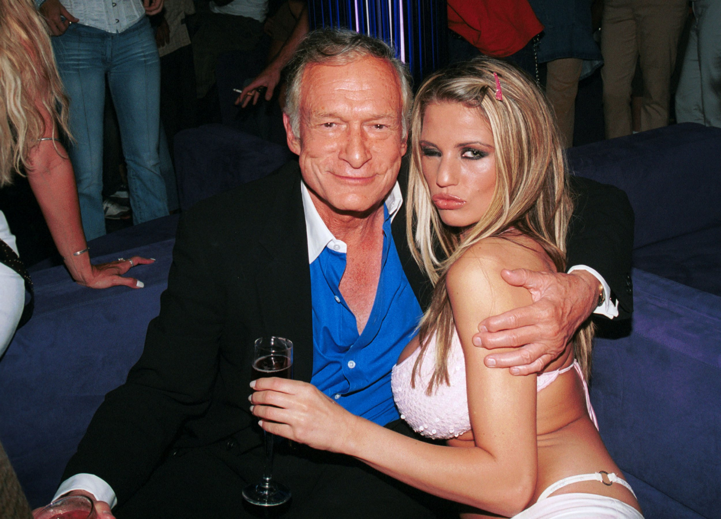 Katie Price says she watched Hugh Hefner have sex with girlfriends at the Playboy mansion, but denies sleeping with him herself