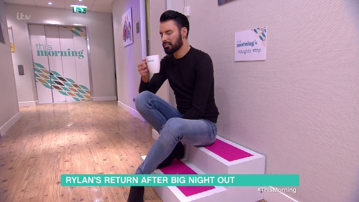 Rylan Clark-Neal forced to sit on This Morning's naughty step after drunken antics at the TV Choice Awards