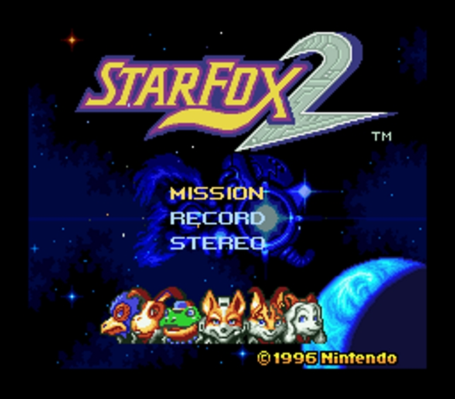 Star Fox 2 (SNES) - Nintendo open their vaults