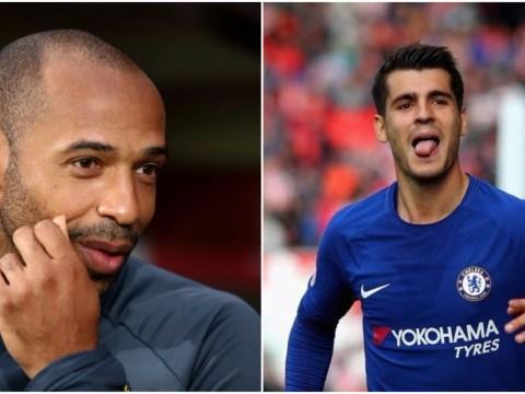 Thierry Henry reveals his reaction to Alvaro Morata's superb goal against Stoke City