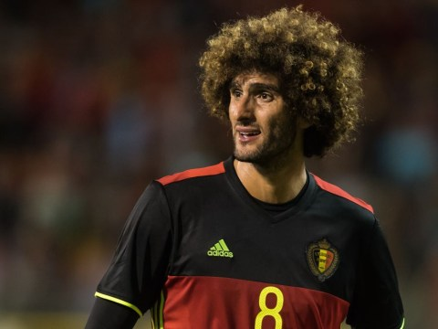 Fresh injury blow for Manchester United as Marouane Fellaini limps out of Belgium clash