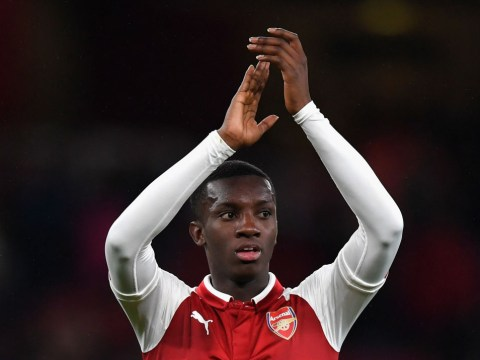 Eddie Nketiah thanks Arsenal legend Thierry Henry after scoring double v Norwich