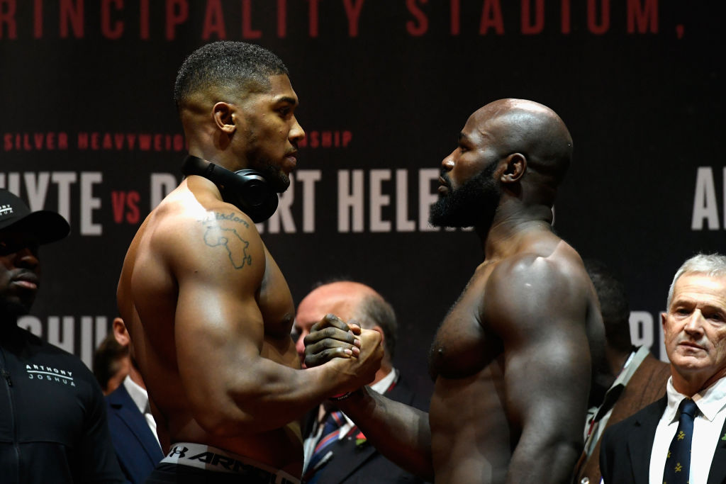 What is the undercard for Anthony Joshua v Carlos Takam?