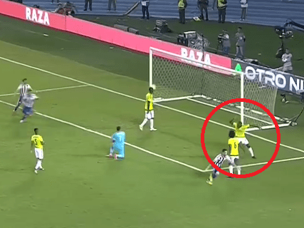 Davinson Sanchez rages at David Ospina after Arsenal keeper's costly errors put Colombia's World Cup qualification on hold