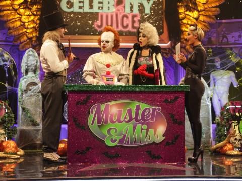 Frankie and Wayne Bridge reveal bedroom secrets on spooktacular Celebrity Juice Halloween special