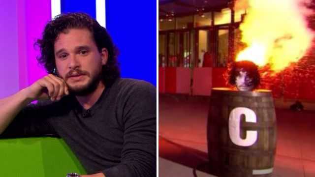 Kit Harington blows up his own hair on The One Show because of everyone's 'strange fascination with it'