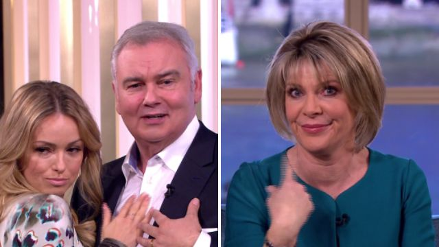 Eamonn Holmes gets some 'pelvic action' with Ola Jordan in front of wife Ruth Langsford