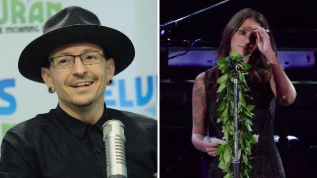Chester Bennington's wife Talinda pays tribute in moving speech at Linkin Park memorial show