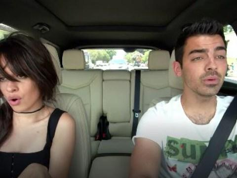 Camila Cabello embarrasses Joe Jonas with old photo then slaps his face in new Carpool Karaoke