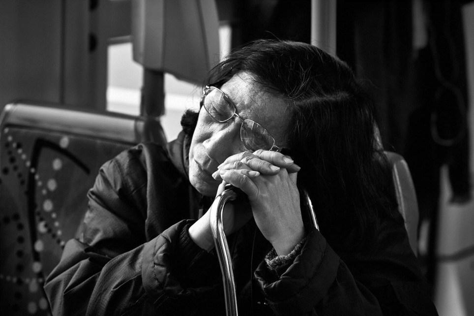 A commuter in Melbourne, 2017