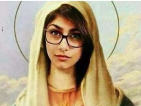 Ex-porn star gets death threats for Photoshopping her face on Virgin Mary