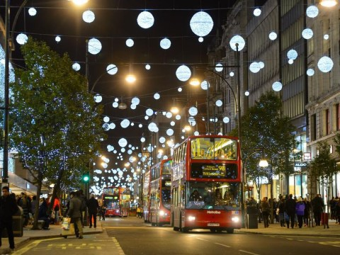 When are the Oxford Street Christmas lights switched on this year and who is doing it?