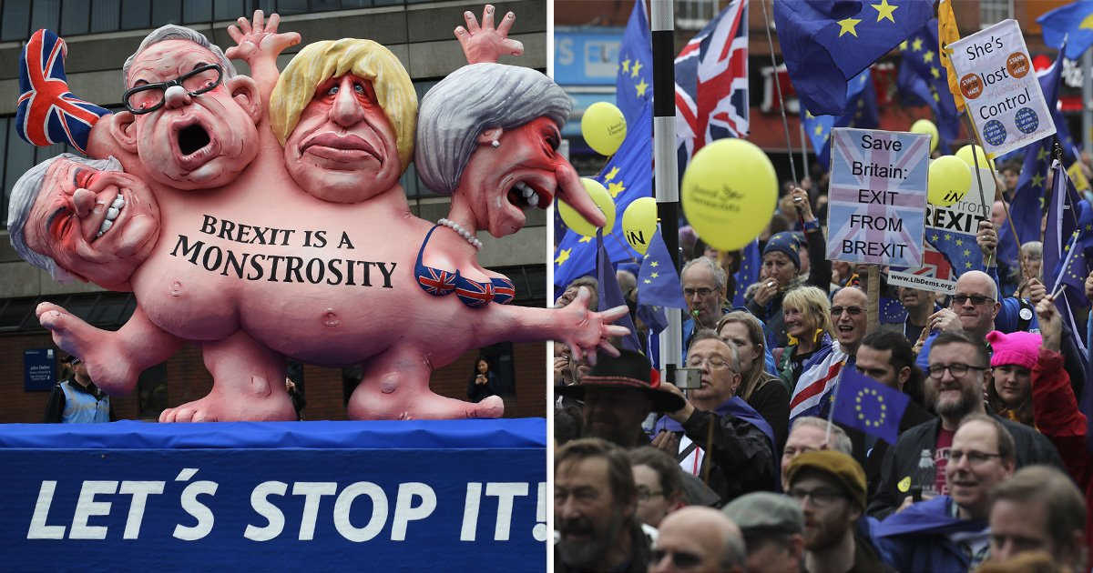 50,000 protesters take part in huge anti-Brexit march outside Tory conference in Manchester