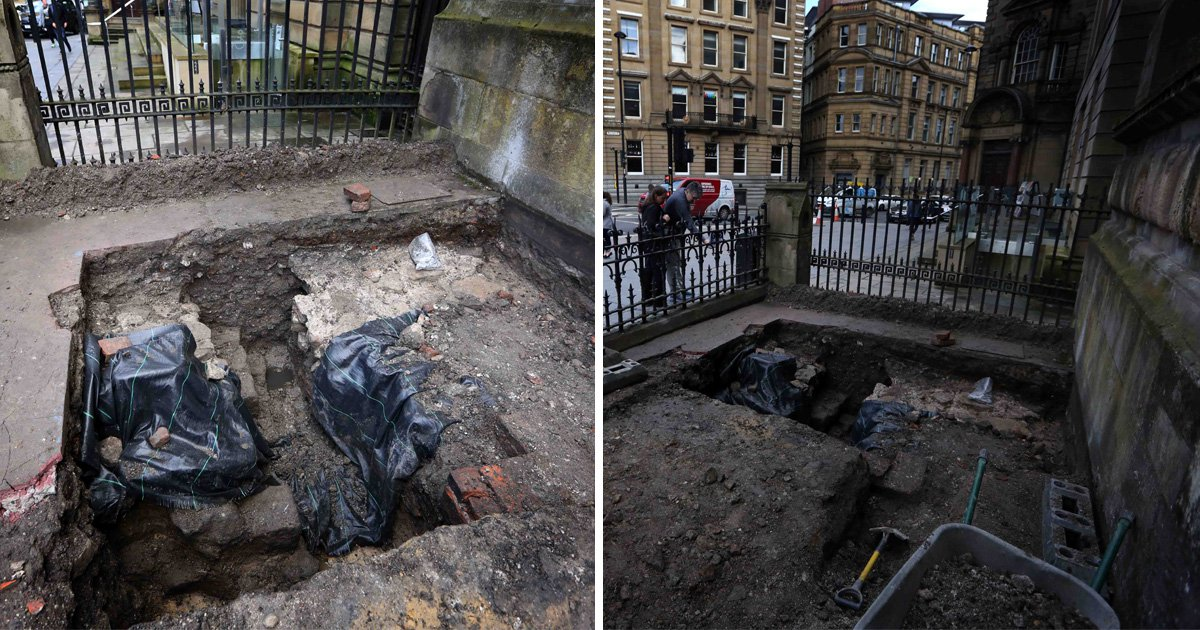 Part of Hadrian's Wall is discovered in Newcastle city centre