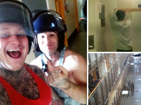 First footage from prison riot after guard's keys were stolen and inmates freed