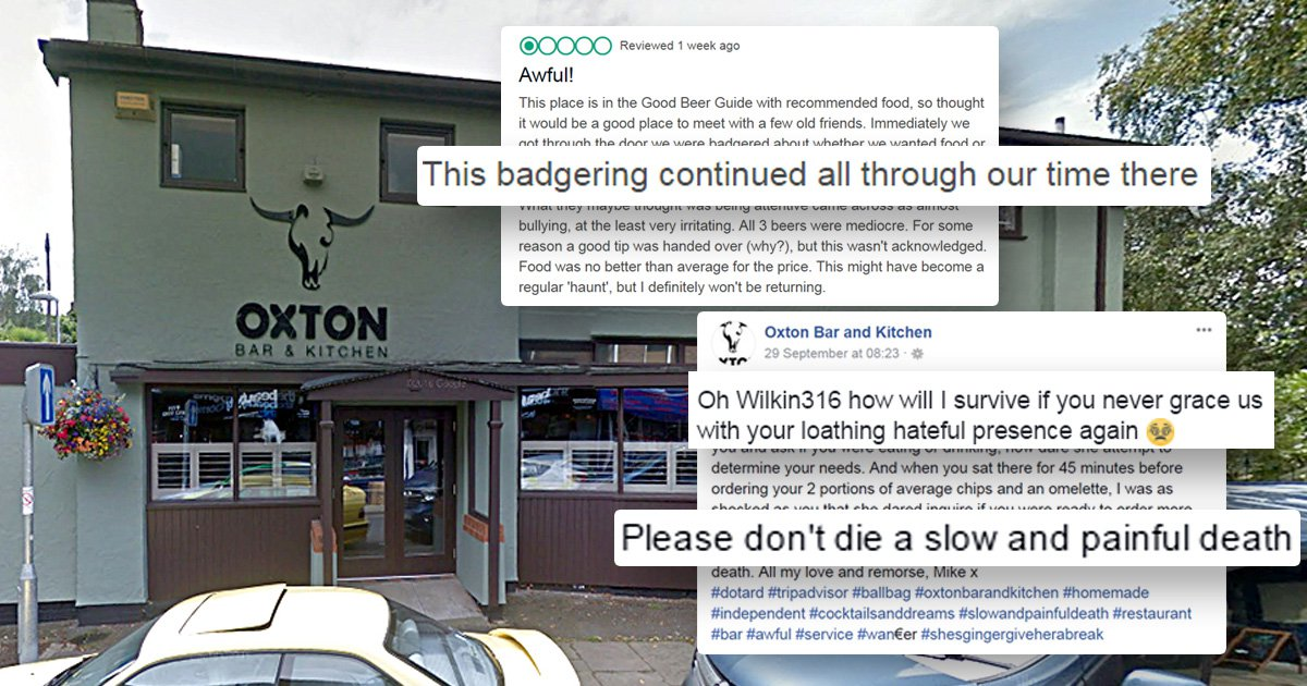 'Don't die a painful death' says restaurant owner to scathing TripAdvisor reviewer
