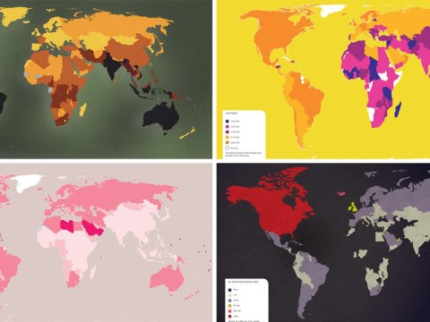 Maps of the world as you've never seen them before