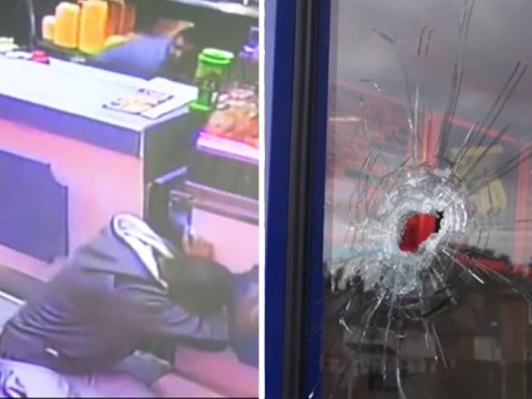 Horrific moment gunman opens fire into packed Birmingham chip shop