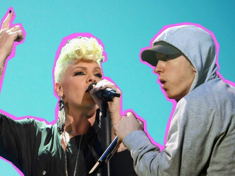 Pink drunkenly ordered Eminem to rap with her on Revenge because she wants a rap Grammy