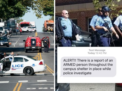 The terrifying text message students got after active shooter report