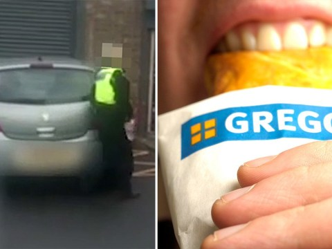 Police caught parking illegally while buying food from Greggs