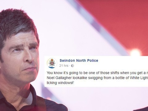 Noel Gallagher lookalike spotted 'licking windows and drinking White Lightning'